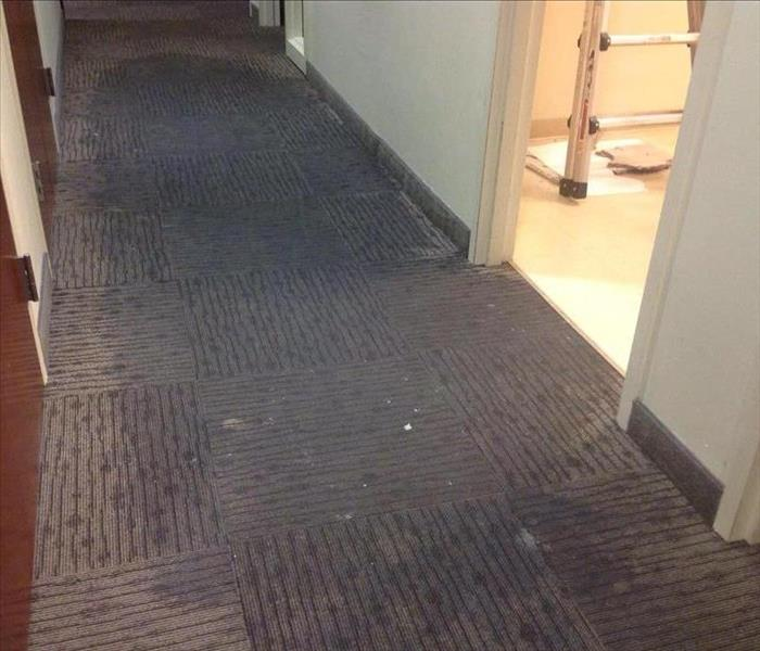 Commercial Hallway - Water Damage Before