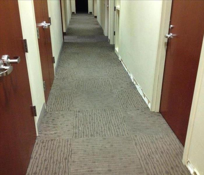 Commercial Hallway - Water Damage After